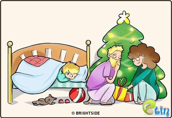 Bố mẹ vẫn nghĩ rằng chúng ta tin sái cổ vào truyền thuyết Ông già Noel, trong khi sự thật thì không phải vậy...