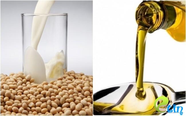 Dưỡng trắng da bằng đậu nành và dầu oliu